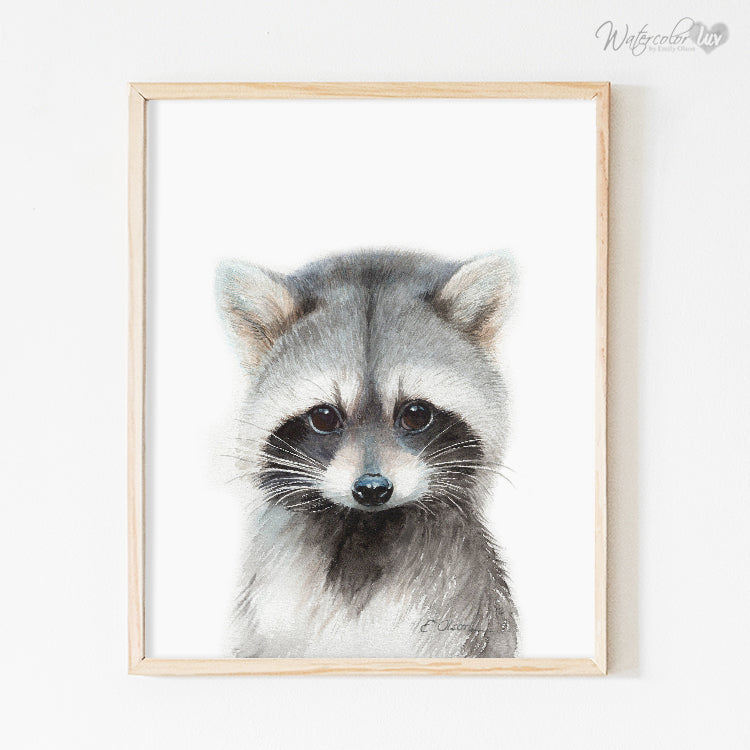 Baby Raccoon Digital Print