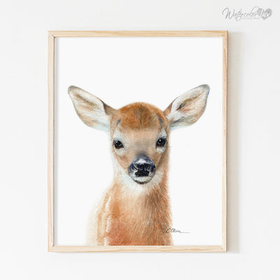 Baby Woodland Animals | Set of 4 Prints Shipped