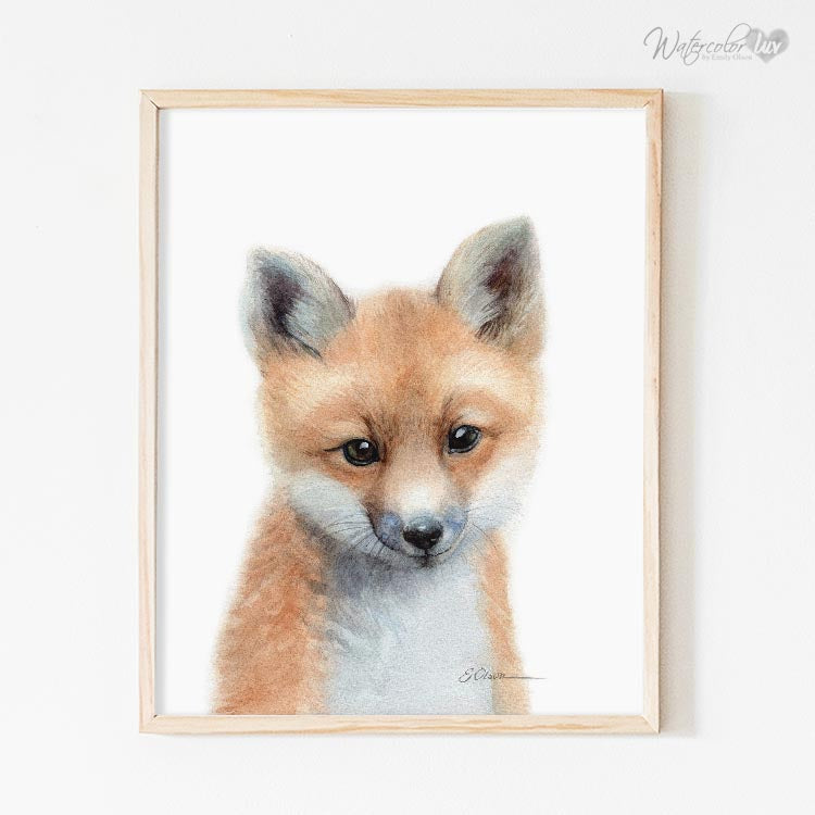 Baby Fox Digital Print