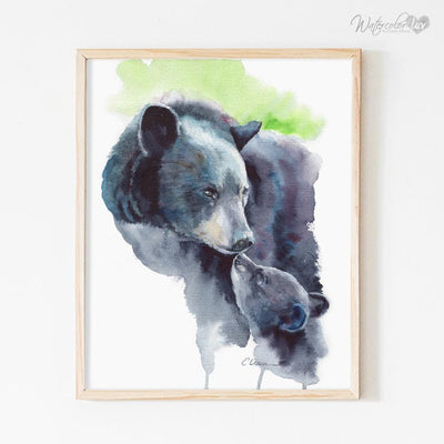 Mom & Baby Woodland Animals | Set of 4 Shipped Prints