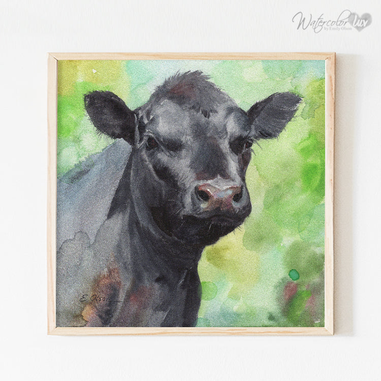 Black Calf Digital Print