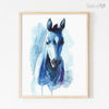 Blue Farm Animals | Set of 4 Digital Prints