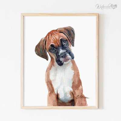 Boxer Puppy Digital Print