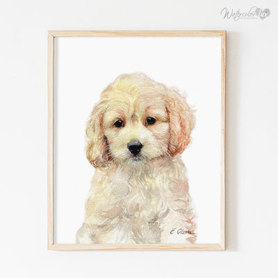 Cockapoo Puppy Digital Print