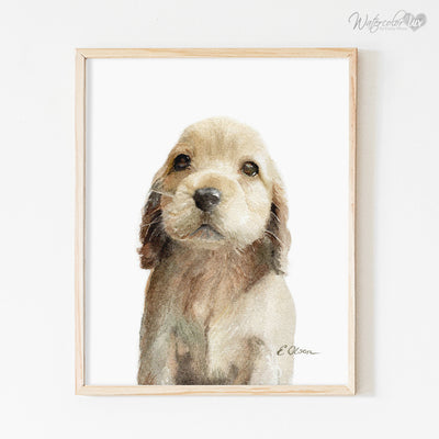 Cocker Spaniel Puppy Digital Print