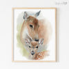 Mother and Baby Deer Shipped Print