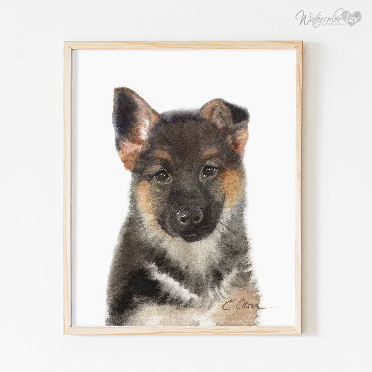 German Shepherd Puppy Digital Print