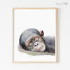 Sleeping Baby Chimpanzee Digital Print