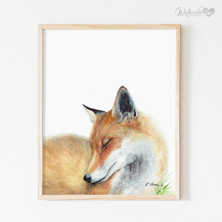 Sleeping Fox Digital Print