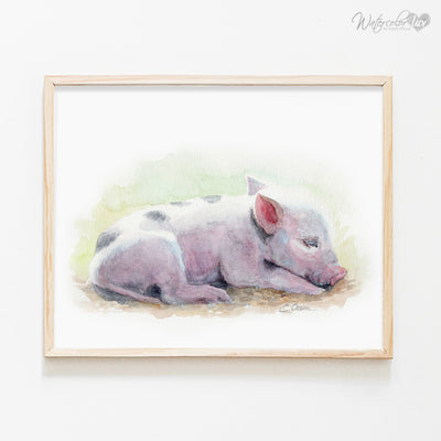 Sleeping Baby Farm Animals | Set of 6 Shipped Prints