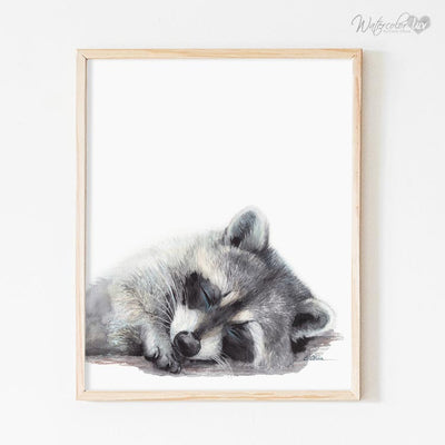 Sleeping Woodland Animals | Set of 4 Digital Prints