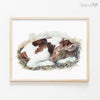 Sleeping Baby Cow Digital Print