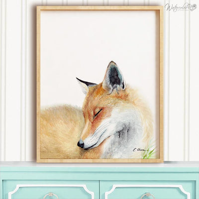 Sleeping Fox Shipped Print