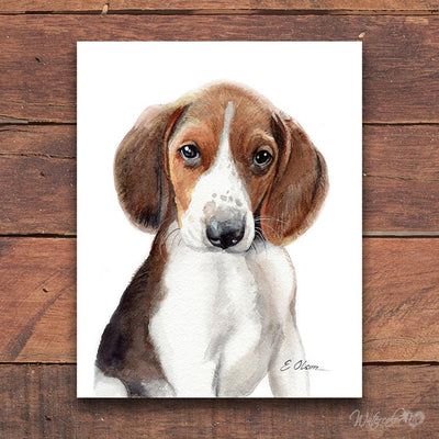 Treeing Walker Coonhound Puppy Shipped Print