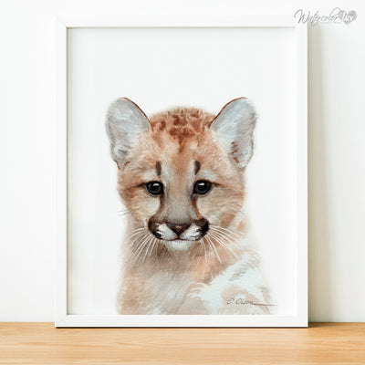 Baby Mountain Lion Digital Print