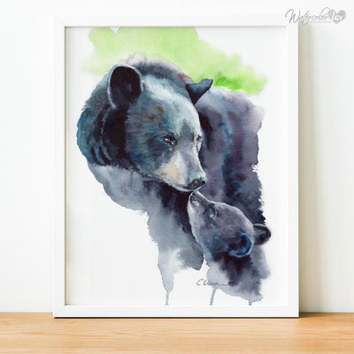 Mother and Baby Bear Shipped Print