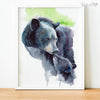 Mother and Baby Bear Digital Print