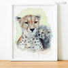 Mom and Baby Cheetah Digital Print