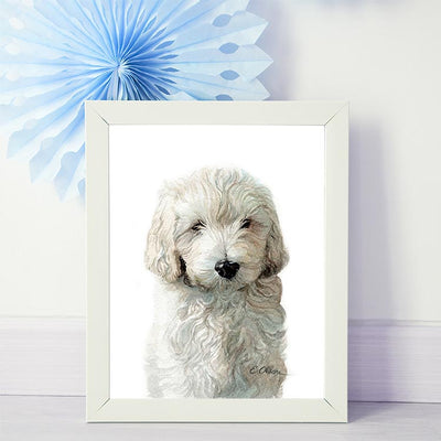 Golden Doodle Puppy Shipped Print
