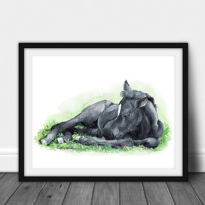 Sleeping Baby Horse Digital Print