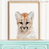 Baby Mountain Lion Shipped Print