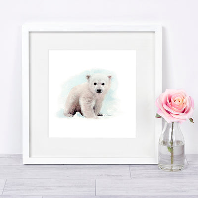 Baby Polar Bear Cub Digital Print