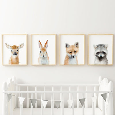 Baby Woodland Animals | Set of 4 Digital Prints