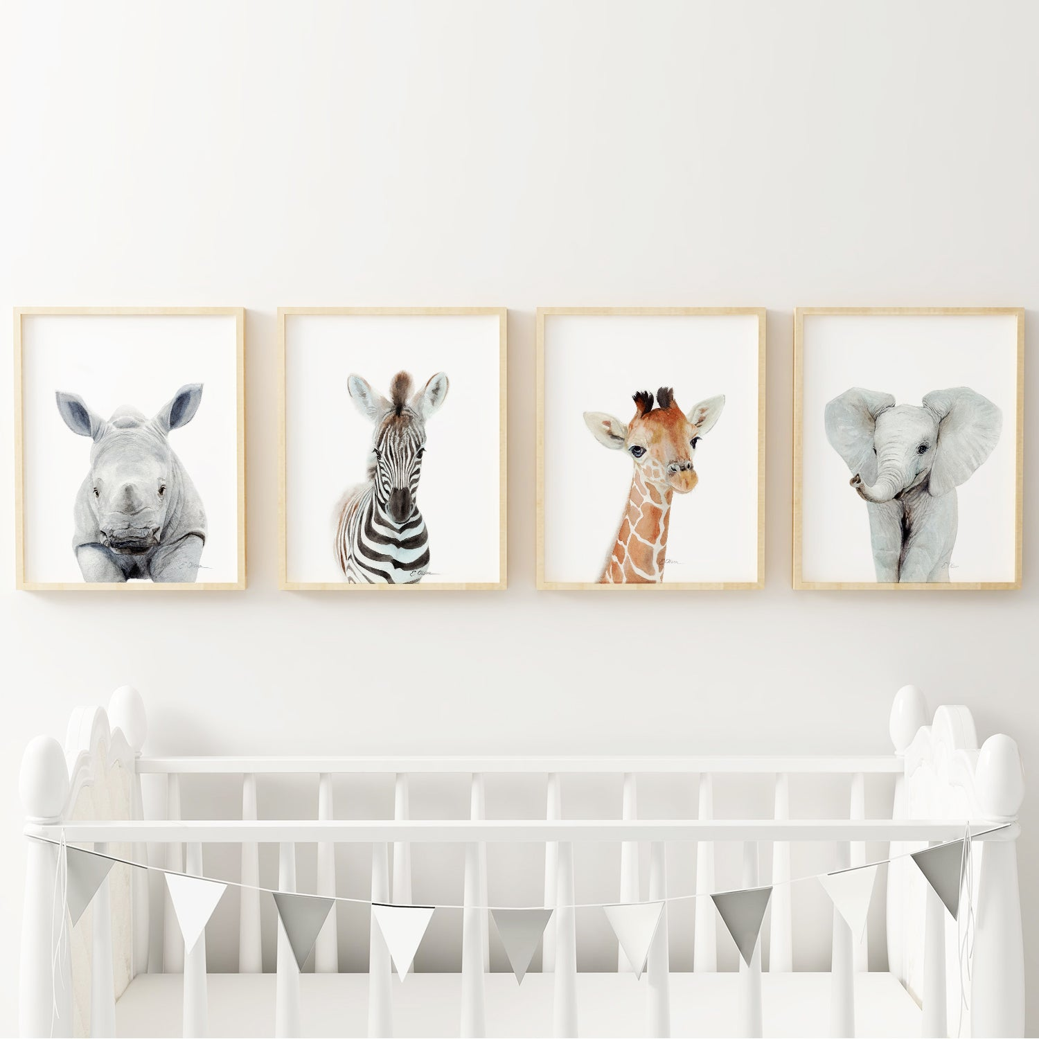 Baby Jungle Animals | Set of 4 Digital Prints