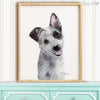 Blue Heeler Puppy Digital Print