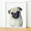 Pug Puppy Shipped Print