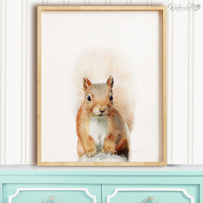 Squirrel Shipped Print