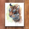 Mom and Baby Tiger Shipped Print