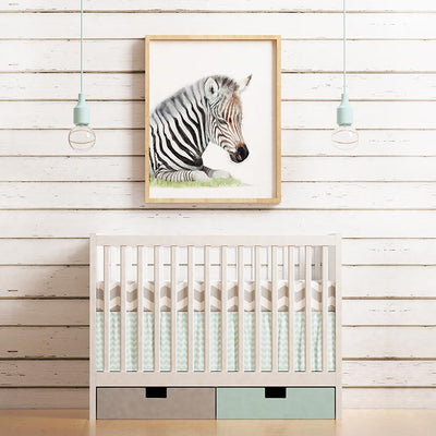 Sleeping Baby Zebra Digital Print
