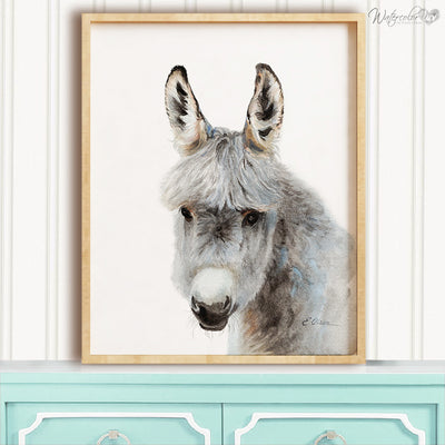 Farm Donkey Shipped Print