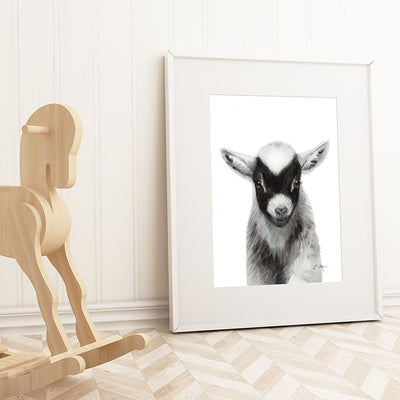 Black Baby Goat Digital Print