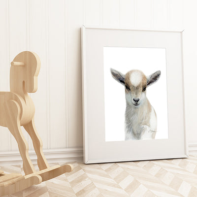 Baby Goat Shipped Print
