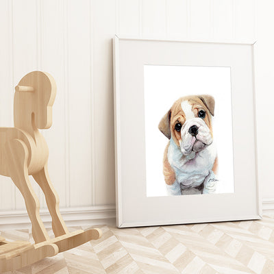 Bulldog Puppy Digital Print