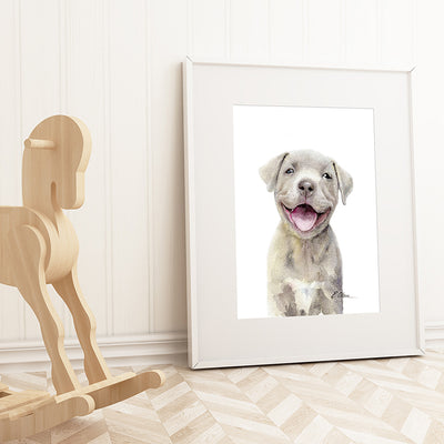 Pitt Bull Puppy Digital Print