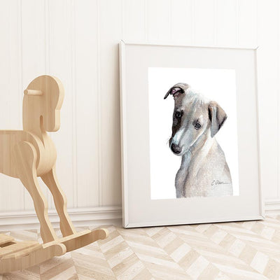 Whippet Puppy Digital Print