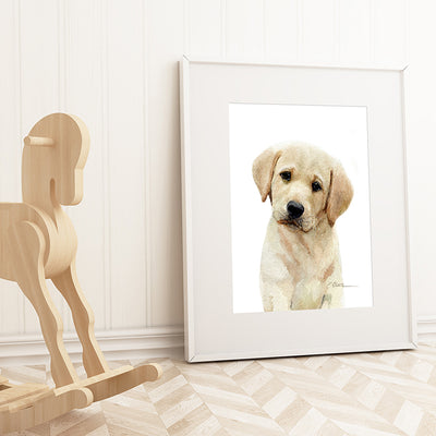 Yellow Labrador Retriever Puppy Digital Print