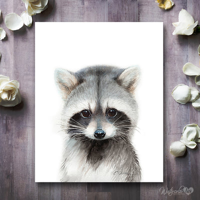 Baby Raccoon Shipped Print
