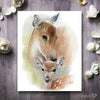 Mother and Baby Deer Digital Print