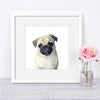 Pug Puppy Digital Print