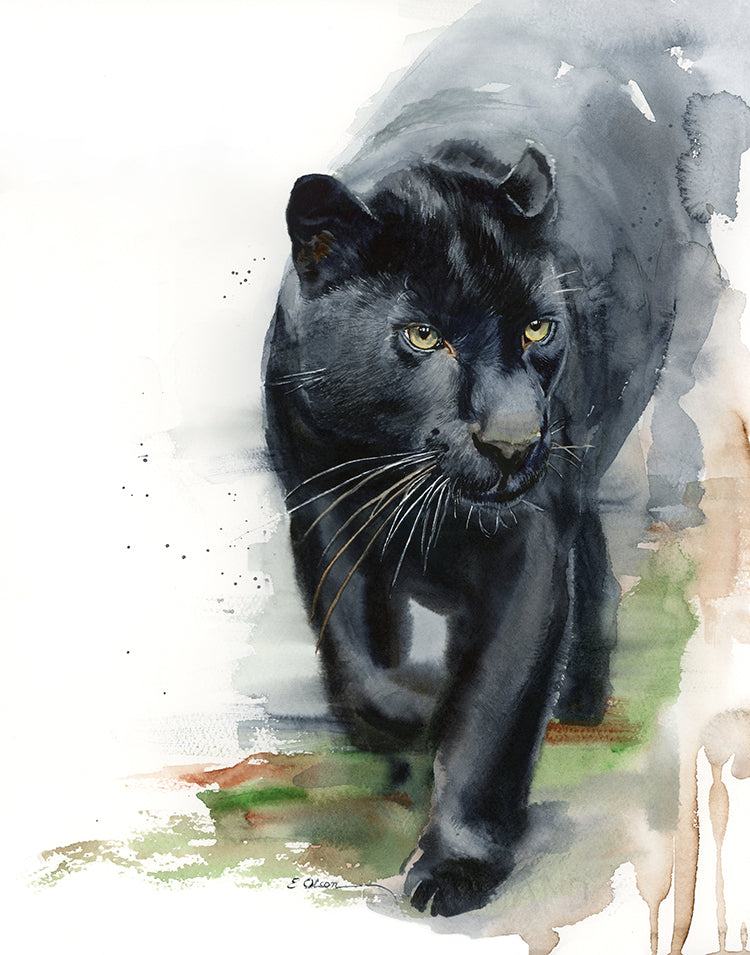 Black Panther Original Watercolor Painting