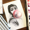 Bubblegum Original Multimedia Painting