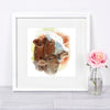 Mother and Baby Cow Shipped Print