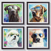 Chocolate Lab in Sunglasses Digital Print