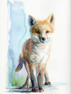Standing Baby Fox Original Watercolor Painting