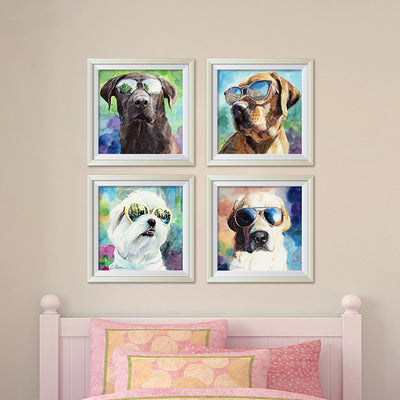 Dogs in Sunglasses | Set of 4 Digital Prints