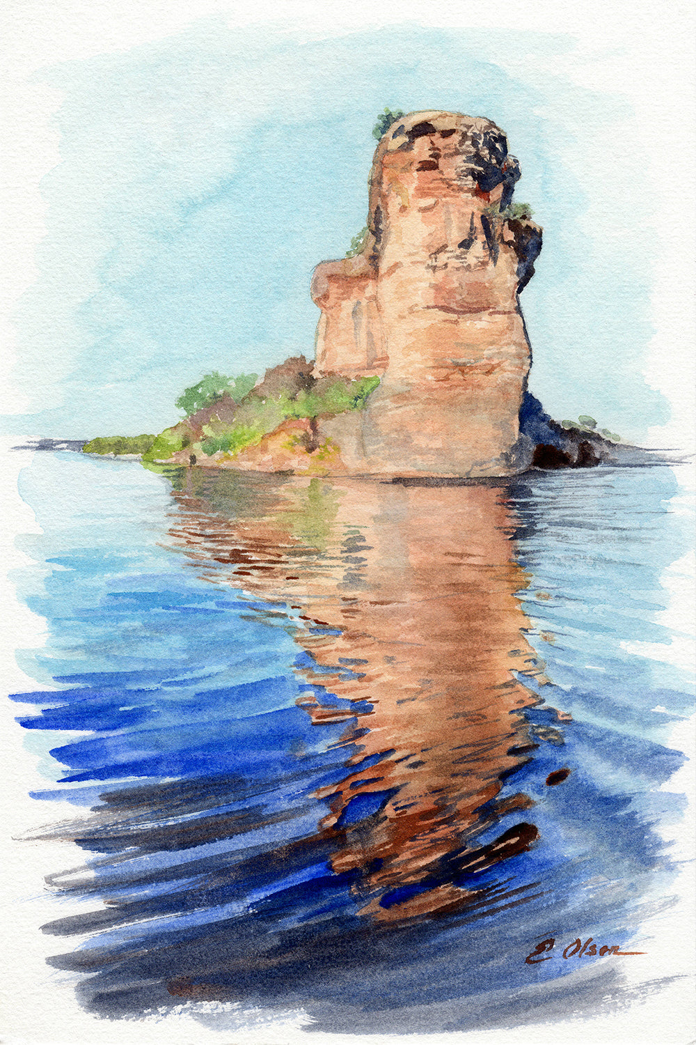 Hell's Gate Possum Kingdom Original Watercolor Painting